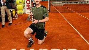 Lần đầu tiên đánh bại Nadal trên sân đất nện, Murray đăng quang Madrid Masters