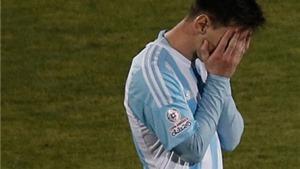 Một lần nữa, Messi rơi lệ vì Argentina