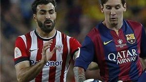 Hậu vệ của Athletic Bilbao: 'Gần như không thể ngăn cản Messi'