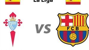 Link truyền hình trực tiếp và sopcast trận Celta Vigo - Barca (01h00, 24/9)