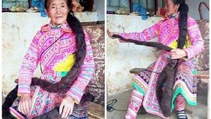 Người phụ nữ nuôi mái tóc dài 2,4m làm 'bùa hộ mệnh'