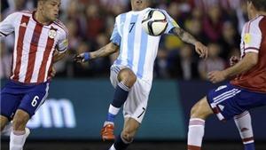Paraguay 0-0 Argentina: Không Messi và Aguero, Argentina vẫn chưa biết mùi chiến thắng