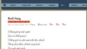 Xuất hiện bài thơ 'Buổi sáng' của Phan Ngọc Thường Đoan ký tên Phan Huyền Thư