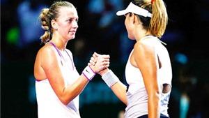 WTA Finals 2015: Kết thúc vòng bảng: Muguruza vẫn bay cao, Kvitova thoát hiểm