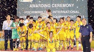 TP.HCM vô địch giải bóng đá nữ quốc tế TP.HCM 2015
