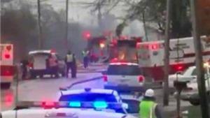VIDEO: Đám cháy khủng khiếp từ máy bay Mỹ gặp nạn