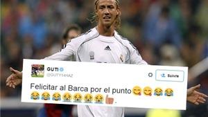 Guti chế nhạo Barca sau trận hòa trước Valencia