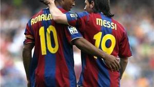 Messi, Ronaldinho và câu chuyện về hai số 10 'tri kỷ'