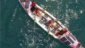 4 'bông hồng' nước Anh chèo thuyền không ngừng nghỉ vượt Thái Bình Dương