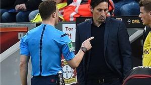 HLV Leverkusen thừa nhận sai lầm khiến trọng tài giận dỗi rời sân
