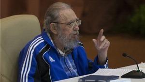 Hình ảnh ấn tượng về lãnh tụ Fidel Castro tại Đại hội Đảng Cộng sản Cuba