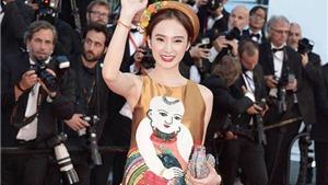 Angela Phương Trinh học 'chiêu' của Phạm Băng Băng trên thảm đỏ Cannes
