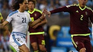 Uruguay 0-1 Venezuela: Cavani tịt ngòi, Uruguay thua trận thứ 2 liên tiếp
