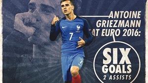 Vượt Zinedine Zidane, Antoine Griezmann phá kỉ lục tồn tại 30 năm ở các kì EURO