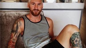 Lionel Messi gây sốt với mái tóc cực độc trước mùa giải mới