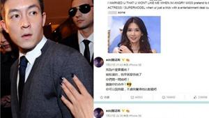 """Trần Quán Hy """"tuyên chiến"""" với Lâm Chí Linh, xúc phạm cô trên Weibo"""