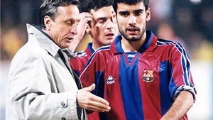 Pep Guaridola từng được 'Thánh' Cruyff cứu vớt tại Barcelona