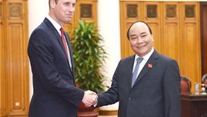Thủ tướng Nguyễn Xuân Phúc tiếp Hoàng tử Anh William