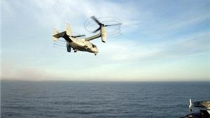 VIDEO: Trực thăng 'kỳ lạ' của Mỹ đâm xuống biển vỡ tan tành