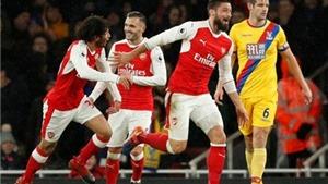 Arsenal 2–0 Crystal Palace: Giroud lập siêu phẩm, Arsenal bỏ túi 3 điểm