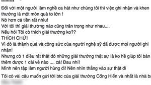 Vì hiểu lầm, Đàm Vĩnh Hưng chỉ trích BTC giải Cống hiến