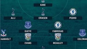 Đội hình tiêu biểu vòng 26 Premier League: Tôn vinh Fabregas và Tottenham