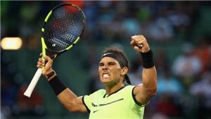 Tennis ngày 27/3: Nadal ngược dòng nghẹt thở trong trận đấu thứ 1.000. Milos Raonic rút lui khỏi Miami