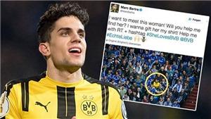 Fan nữ Dortmund gây sốc khi một mình giữa 'rừng' CĐV Schalke