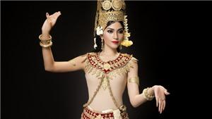 Trương Thị May xinh đẹp hóa thân vũ nữ Apsara mừng tết Khmer