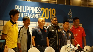Bóng đá nam SEA Games 30: HLV Park Hang Seo khẳng định chiến đấu từng trận một