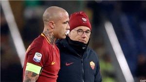 Nainggolan khoe gẫy răng sau pha va chạm với tiền vệ của Milan