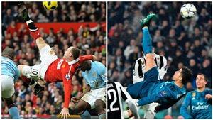Wayne Rooney: 'Siêu phẩm móc bóng của tôi đẹp hơn của Ronaldo'
