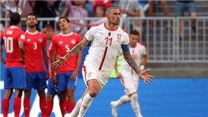 Costa Rica 0-1 Serbia: Kolarov đá phạt đẹp mắt, Serbia có chiến thắng đầu tay