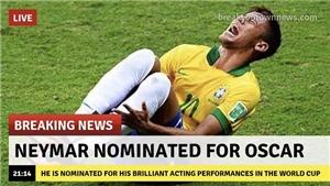 Neymar được đề nghị làm 'thủ khoa sân khấu điện ảnh' sau pha lăn lộn ở trận gặp Mexico
