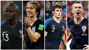 Ba cuộc đụng độ đáng chú ý trong trận đấu giữa Croatia và Pháp