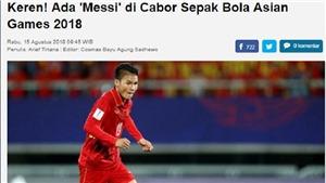 Báo Indonesia gọi Quang Hải là 'Messi của ASIAD'