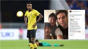 Tuyển thủ Malaysia được Neymar, Kaka gửi lời chào trên mạng xã hội