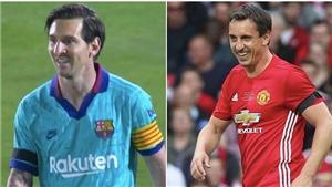 Messi gây sốc khi có diện mạo mới giống hệt... Gary Neville.