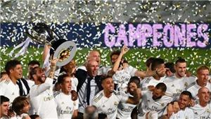 Real Madrid vô địch La Liga trong ngày Barcelona thua đau trên sân nhà