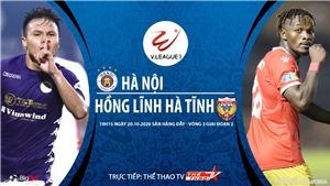 Soi kèo nhà cái. Hà Nội vs Hà Tĩnh. Trực tiếp bóng đá Việt Nam 2020
