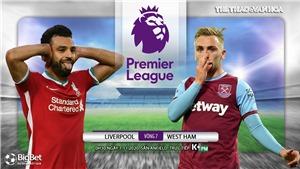 Soi kèo nhà cái Liverpool vs West Ham. Vòng 7 Giải ngoại hạng Anh. Trực tiếp K+ PM