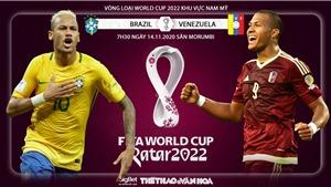 Soi kèo nhà cáiBrazil vs Venezuela. Vòng loại World Cup 2022 khu vực Nam Mỹ