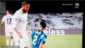 Ramos chửi thề với Hakimi trong ngày Real đánh bại Inter Milan