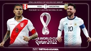 Soi kèo nhà cáiPeru vs Argentina. Vòng loại World Cup 2022 khu vực Nam Mỹ
