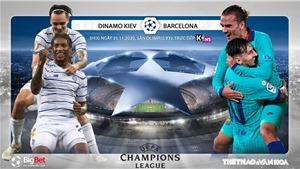 Soi kèonhà cái Dinamo Kiev vs Barcelona. Vòng bảng Champions League. Trực tiếp K+NS