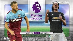 Soi kèonhà cái West Ham vs MU. Vòng 11 giải Ngoại hạng Anh