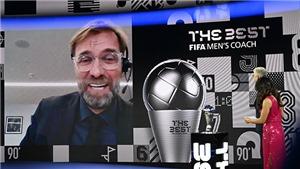 Juergen Klopp nhận giải HLV xuất sắc nhất năm của FIFA