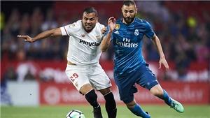 Trực tiếp Sevilla vs Real Madrid. Link xem trực tiếp bóng đá Tây Ban Nha vòng 12