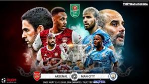 Soi kèo nhà cáiArsenal vs Man City. Trực tiếp bóng đá Tứ kết Cúp Liên đoàn Anh