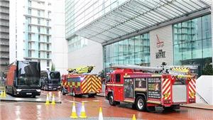 MU phát hoảng khi xe cứu hỏa đến khách sạn nơi đóng quân trước trận gặp Everton